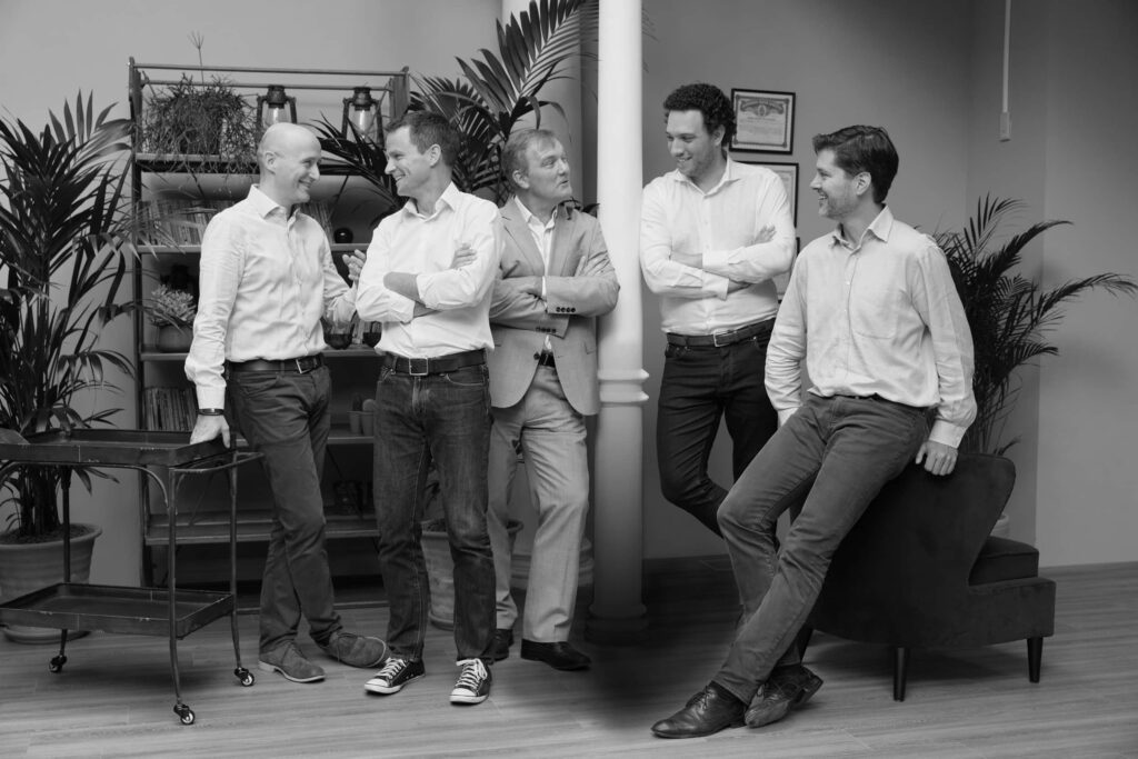 Previse founding team - Giulio Rossi, Paul Christensen, David Brown, Andre de Cavaignac, Philipp Shoenbucher